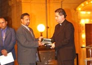Munxar Mayor Joseph Sultana and  Rev. Frankie Bajada, the Munxar Chaplain